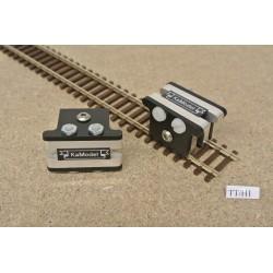 TT/H1 Montage-Clips,krauseklammern zum Verlegen von Flex-Gleisen im TT Maßstab,2St