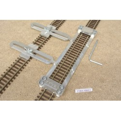 TT/K/L150/C1, Track Laying Template Straight 150mm for Flex Track TT KUEHN + 2 adjustable couplings
