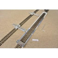 TT/T/L300/C1,Gleisschablone gerade,lange 300mm 1St.mit einstellbaren Kupplungen,2St.