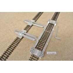 TT/T/L150/C1,Gleisschablone gerade,lange 150mm 1St.mit einstellbaren Kupplungen,2St.