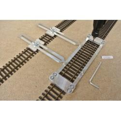 HO/T/L150/C1,Gleisschablone gerade,lange 150mm, mit einstellbaren Kupplungen, 2St, HO TILLIG