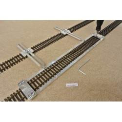 HO/T/L300/C1, Track Laying Template Straight 300mm for Flex Track HO TILLIG ELITE + 2 adjustable couplings