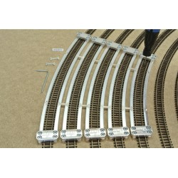 N/PE/SET/S, Arched Track Laying Templates for Flex Track N PECO, supplementary set (R370-R512)