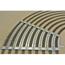 N/PE/SET/E, Arched Track Laying Templates for Flex Track N PECO, Expanded set 9 pcs (R228-R512)
