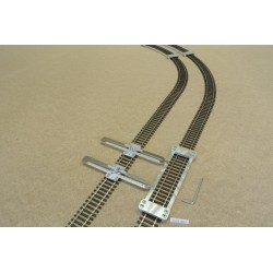HO/P/L150/C1, Track Laying Template Straight 150mm for Flex Track HO PIKO + 2 adjustable couplings