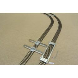 HO/P/L150/C1,Gleisschablone gerade,lange 150mm 1St.mit einstellbaren Kupplungen,2St für HO PIKO