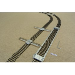HO/P/L300/C1, Track Laying Template Straight 300mm for Flex Track HO PIKO + 2 adjustable couplings