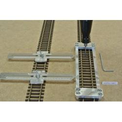 HO/PE/L150/C1,Gleisschablone gerade,lange 150mm 1St.mit einstellbaren Kupplungen,2St für HO PECO