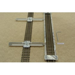 HO/PE/L300/C1, Track Laying Template Straight 300mm for Flex Track HO PECO + 2 adjustable couplings