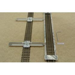 HO/PE/L300/C1,Gleisschablone gerade,lange 300mm 1St.mit einstellbaren Kupplungen,2St für HO PECO