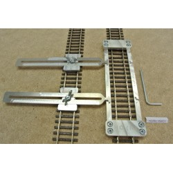 HO/R/L150/C1, Track Laying Template Straight 150mm for Flex Track HO ROCO + 2 adjustable couplings