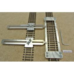 HO/R/L150/C1,Gleisschablone gerade,lange 150mm 1St.mit einstellbaren Kupplungen,2St für HO ROCO LINE.
