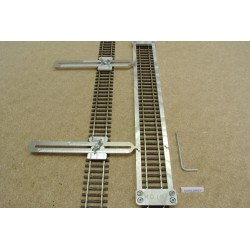 HO/R/L300/C1, Track Laying Template Straight 300mm for Flex Track HO ROCO + 2 adjustable couplings