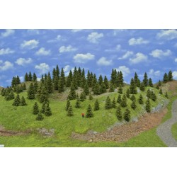 Forest TT2 , Spruces, height 3-10cm, 110pcs