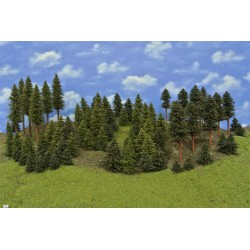 Forest HO2, spruces, pines, 3-20 cm,82pcs