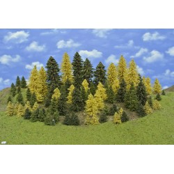 Forest HO3, spruces, pines, autumn larches, 3-18 cm