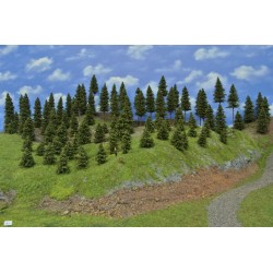 Forest N1 - Spruces, height 3-19cm, 85pcs