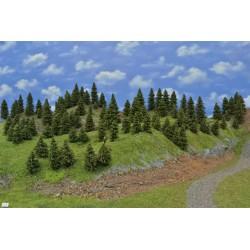 WALD N2,Bäume, Fichten, 3-10cm,110 Stück