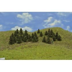 HO - stromky,smrky,výška 3-4cm,30ks (37/B1/HO)