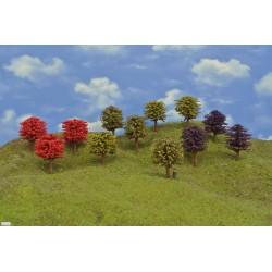 49OHO runde farbige Bäume,Höhe 8-9cm,12St