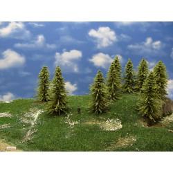 32MZ1HO - Green larches, height 13-14cm, 12pcs
