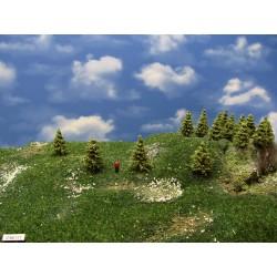 37MZ1TT- Bäume,Lärchen grün ,Höhe 4-5cm,30 Stück