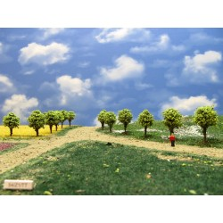 54Z1TT - Deciduous green round trees, 4cm, 30pcs