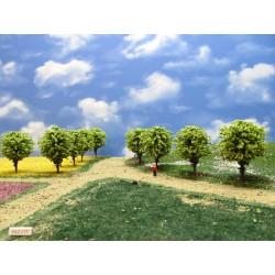 55Z1TT - Deciduous green round trees, height 6-7cm, 16pcs
