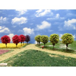 55OTT-runde bunte Bäume, 6-7cm,16St