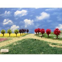 54ON-runde bunte Bäume, 4cm,30St