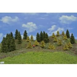 Wald TT27, Fichten, Lärchen gelb, 3-8cm, 30Stück