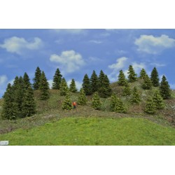 Forest TT28 - Spruces, green larches, height 3-8 cm, 30pcs