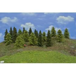 Wald TT30, Fichten, Lärchen grün, 6-10cm, 20 Stück