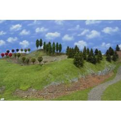 Forest N25 - Spruces, pines, ornament, deciduous, height 4-10cm, 50pcs
