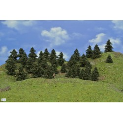 Forest N32 - Pines, height 3-6cm, 35pcs
