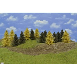 Forest HO30, Pines, autumn larches, height 9-14 cm, 14pcs