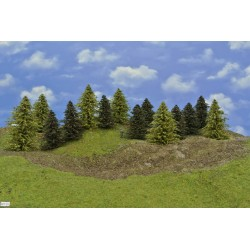 Forest HO30, Pines, green larches, height 9-14 cm, 14pcs