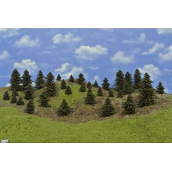 Forest HO34, Pines, height 3-11 cm, 33pcs