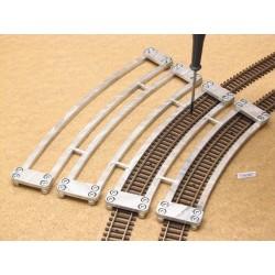 TT/K/SET, Arched Track Laying Templates for Flex Track TT KUEHN, 4 pcs