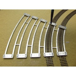 HO/R/RSET, Arched Templates for laying Flex Track HO ROCO LINE, SET (R358-R604,4)