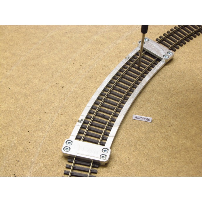 HO/T/R366, Arched Template for laying Flex Track HO TILLIG ELITE, Radius 366, 1pcs