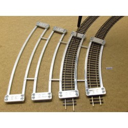 HO/P/RSET, Arched Templates for laying Flex Track HO PIKO, SET (R360-R545,6)