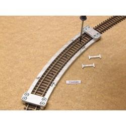 Schablone für die Verlegung von Flexgleisen TT KUEHN,R365mm,1St,TT/K/R365