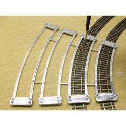 HO/T/SET, Arched Track Laying Templates for Flex Track HO TILLIG ELITE, 4 pcs (R366-R543)
