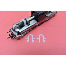 D2/TT/HO - Chassis holder for TT E499,YC1,E42,E11,BR211,BR242,HO BR120 Piko,Gützold,DDR, non-original, 2pcs