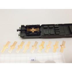 K38/TT/HO, contacts for wagon lighting, 8-50pcs / non-original