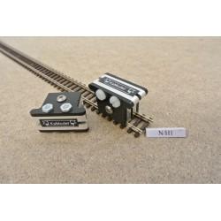 Montage-Clips,krauseklammern zum Verlegen von Flex-Gleisen im N Maßstab,N/H1,2St