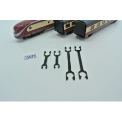 T3/SET/N, coupling set for wagon set BR VT 11.5 ROCO, 4pcs