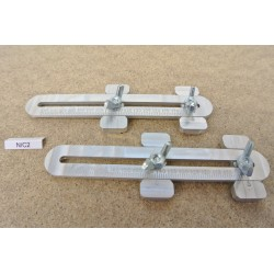 N/C2, Universal Adjustable Couplings for Laying Flex Track in scale N, 2 pcs