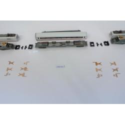 T7/SET/B Nicht gebogene Kontakte für ICE-Set, N-Minitrix 12996, Set 12 Stück